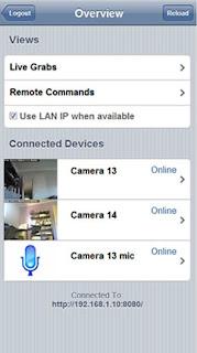 videosorveglianza iphone
