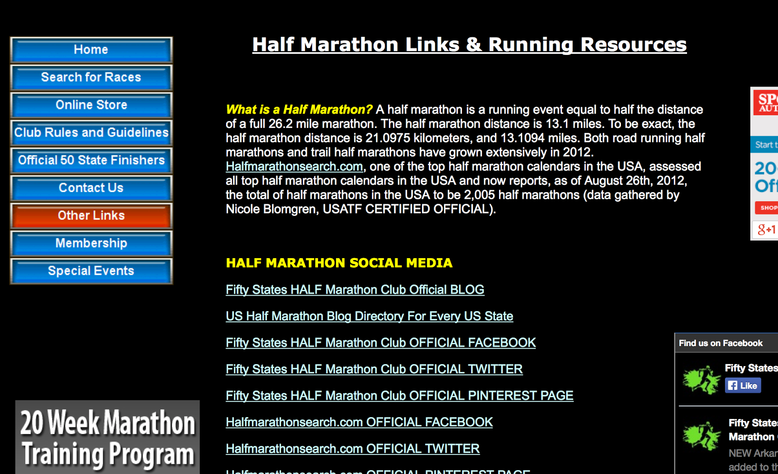 Half Marathon Resources