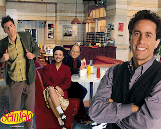 Cast of The Seinfeld Show in the cafeteria