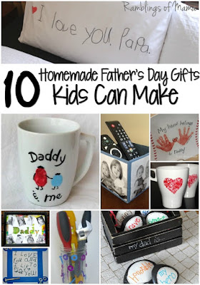 10 handmade Father's Day Gifts Kids Can Make #FathersDay #Handmade #Homemade #Gifts