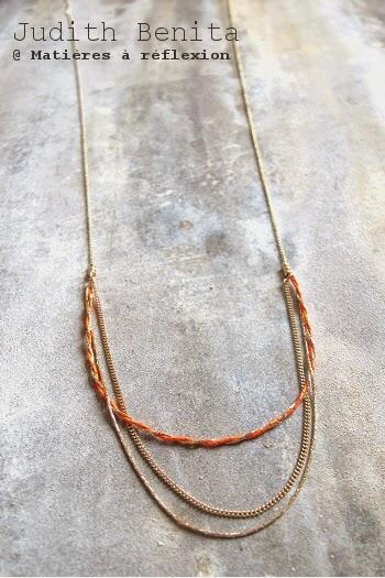 Judith Benita collier bracelet sautoir doré rouge bijoux bliss