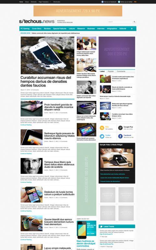 Technology Magazine WordPress Theme Free