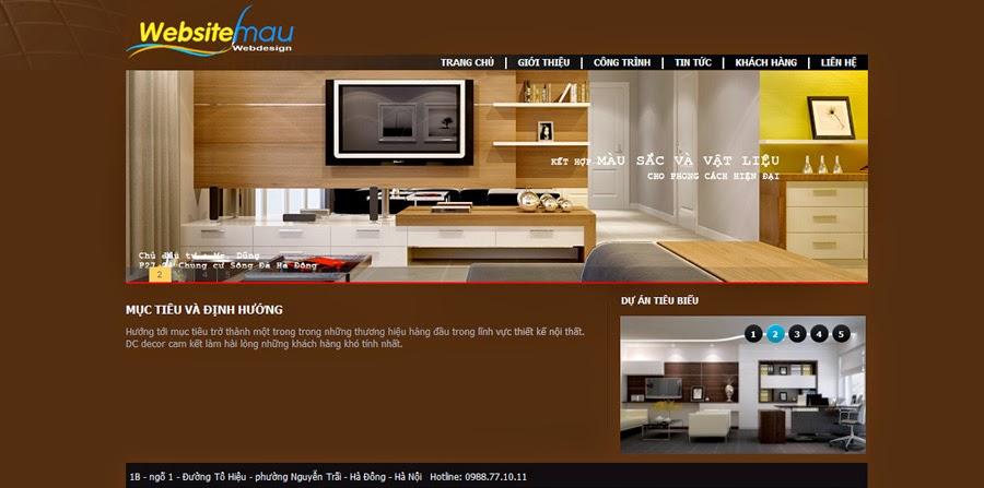 thiết kế website trang trí nội thất