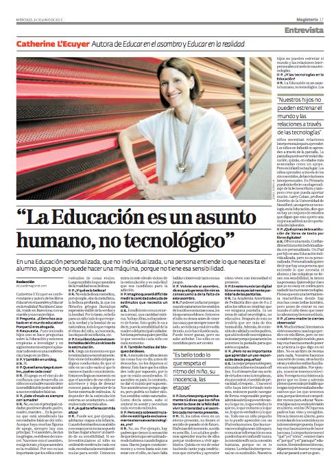 Entrevista Revista Magisterio