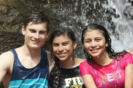 At the waterfall