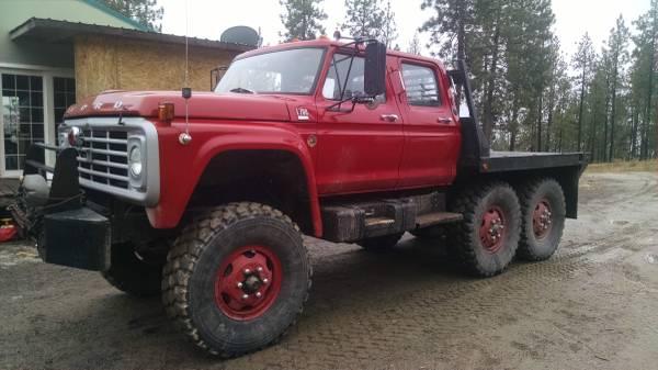 International Cxt 4x4 For Sale >> 1975 Ford F-700 Crew Cab 6x6 Truck - 4x4 Cars