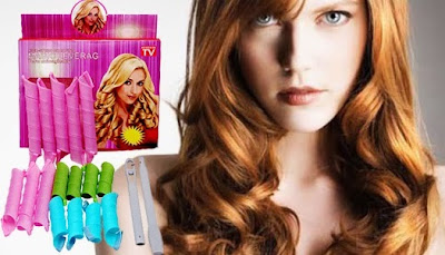 Alat Pengeriting Rambut Ajaib Magic Leverage Instant Hair Curler