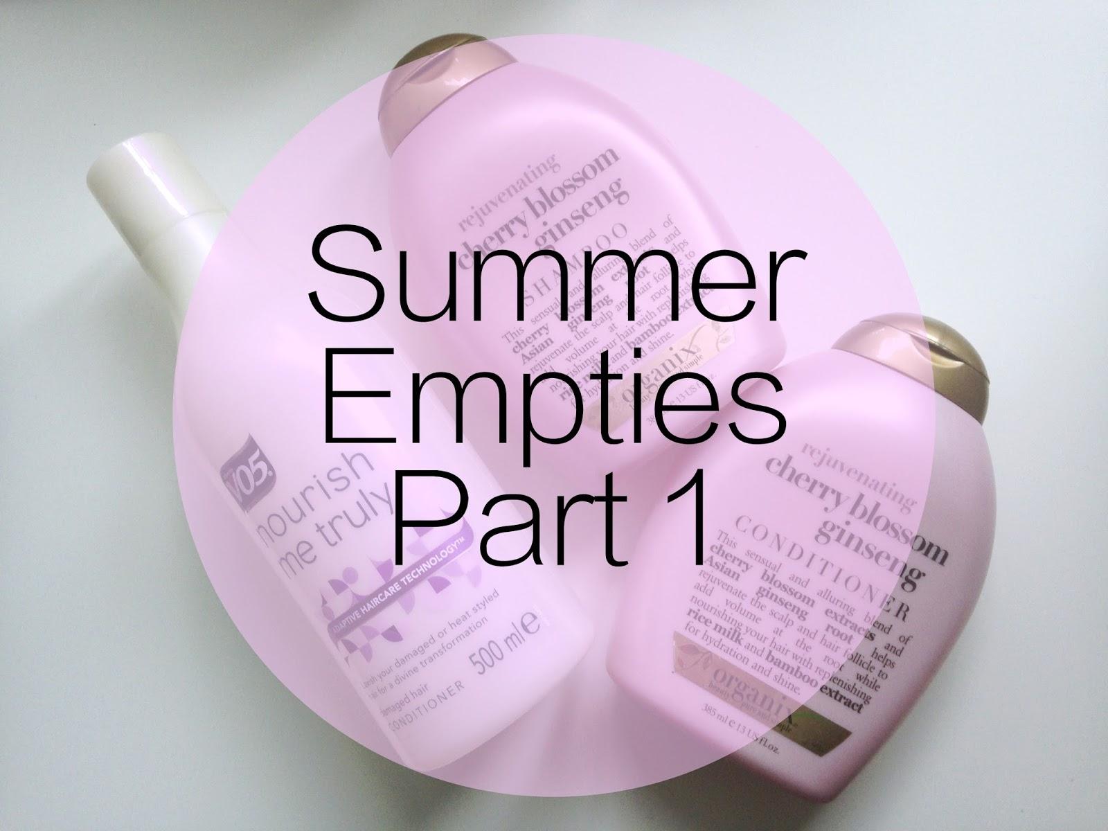 Summer Empties Part 1