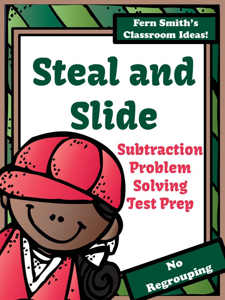 Fern Smith's Just Published Test Prep Baseball's Steal and Slide Method - Subtraction No Regrouping