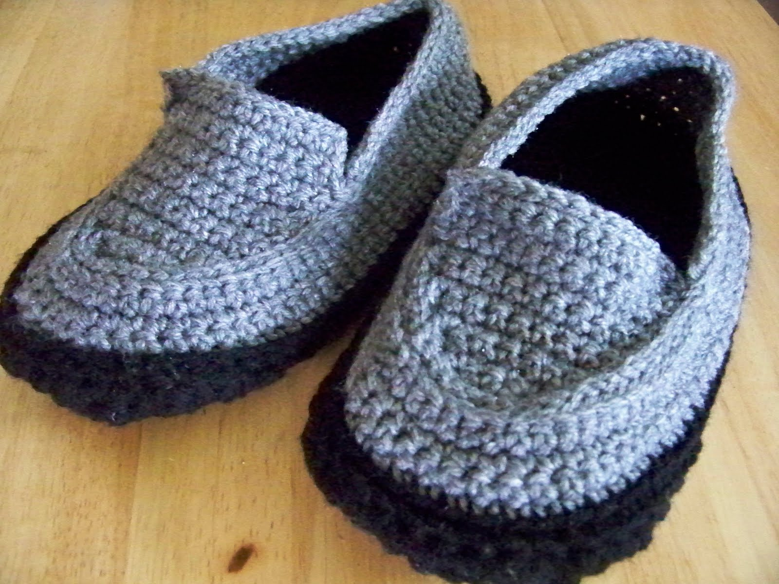 Crochet Patterns Slippers : my brother some slippers for his birthday but couldnt find a pattern ...