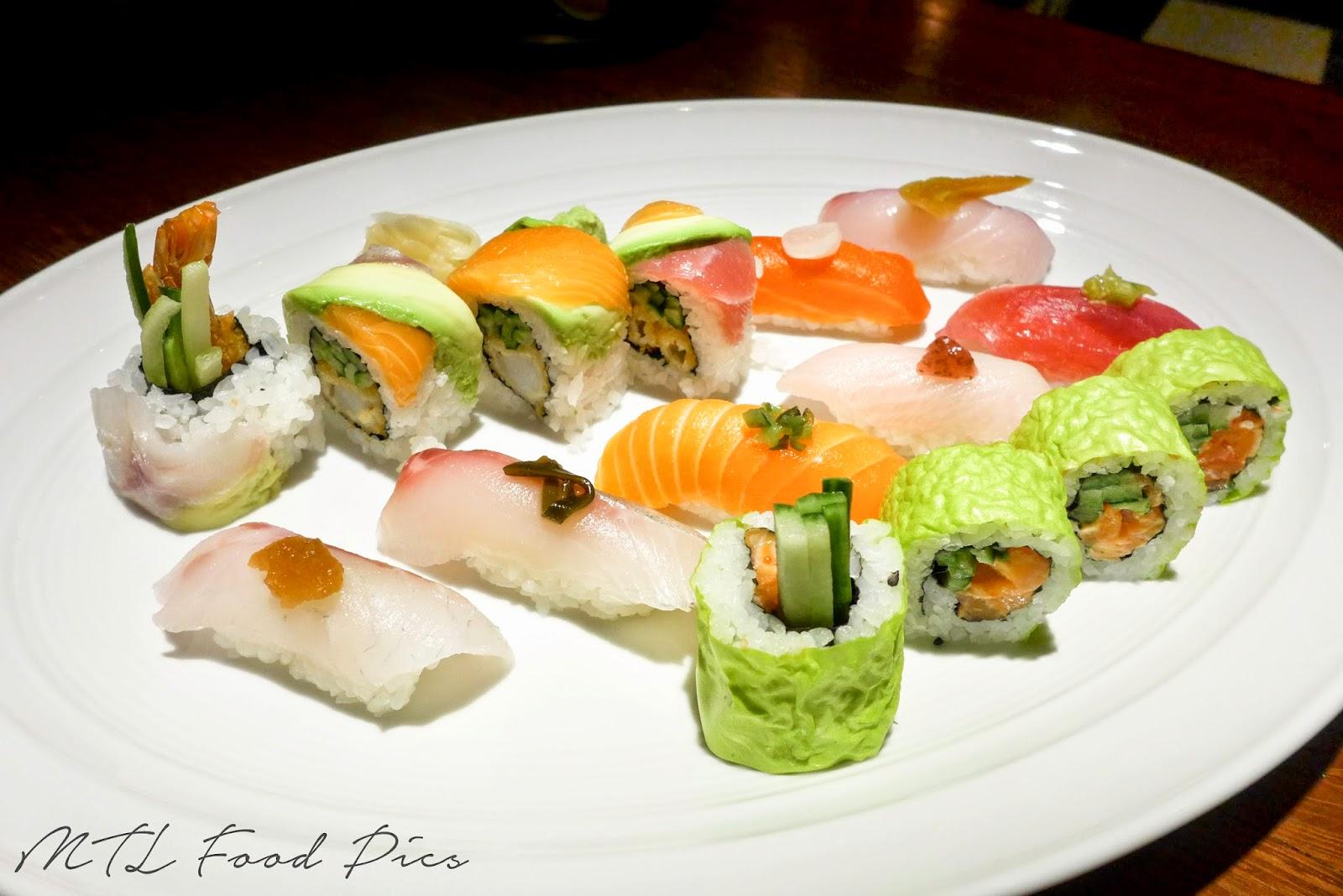 Nigiri and Maki Platter - Sushii Montreal