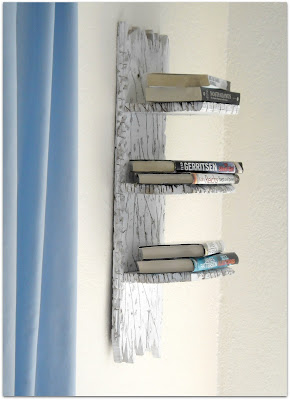 "Beach Inspired Bookshelf ~ Easy DIY ~ Fits in with all ""beach themed"" rooms ! #Bookshelf #BeachThemed"