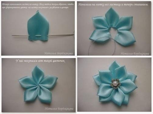 Como hacer rosas en liston - Imagui