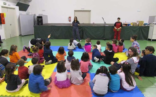 Un momento de la celebración del taller con la infancia Illescas