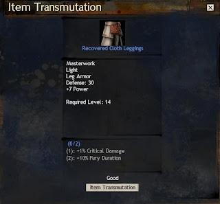 GW2 Item Transmutation