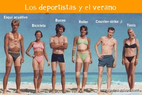 Deportistas y el verano