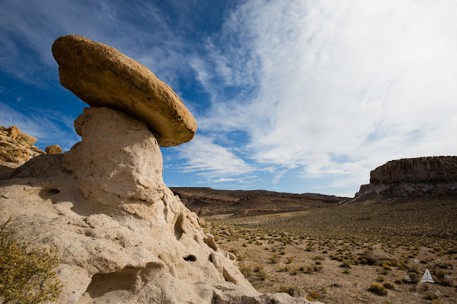 Hoodoo balanced rock Basin and Range National Monument
