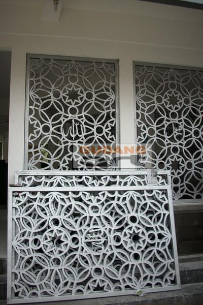 masjid ornamen islamic cor logam vector ornamen dinding masjid masjid ...