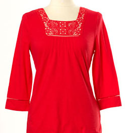 Baby Phat Embroidered Scoop tops