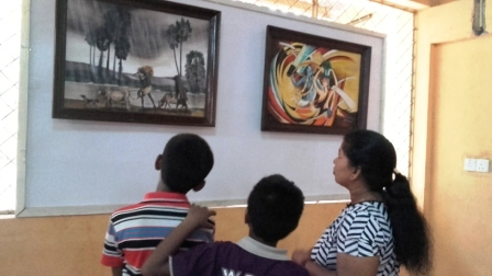 """சி. சிவதாசனின் """"எண்ணமும் வண்ணமும் -  மௌனமொழி"""" ஓவியக் கண்காட்சி"""