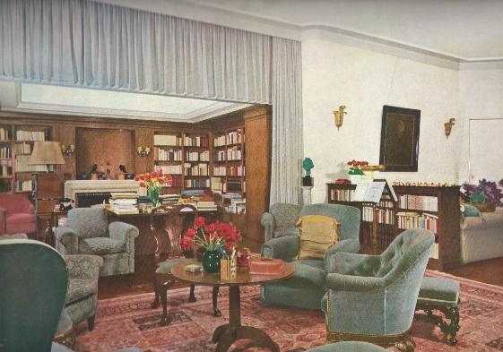 royalement blog photos de l 39 int rieur du stuyvenberg ann es 50 60. Black Bedroom Furniture Sets. Home Design Ideas