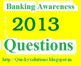 General awareness solved question paper for IBPS, SBI as well as Banking sector competitive exams