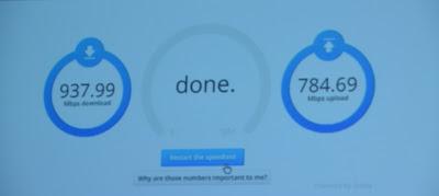 google fibre , 1000 mbps speed