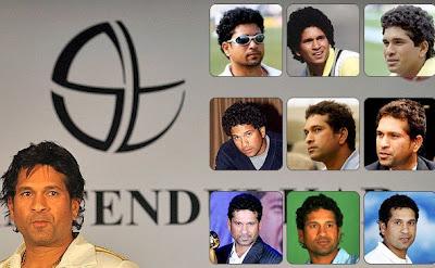 Sachin Tendulkar's new hairstyle