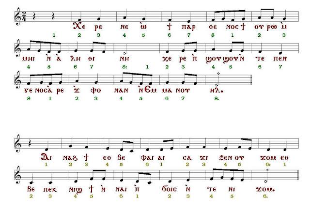 النوت الموسيقية للألحان القبطية
