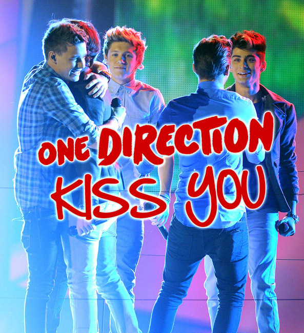 One Direction     Kiss You  Liric Video    Video y LetraOne Direction Kiss You Single Cover