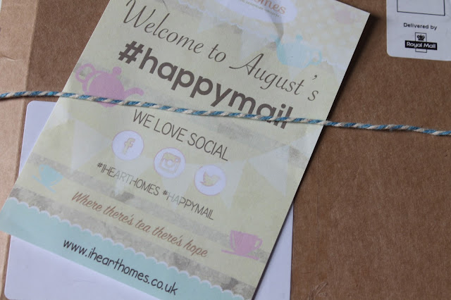 August #happymail box by ihearthomes.co.uk