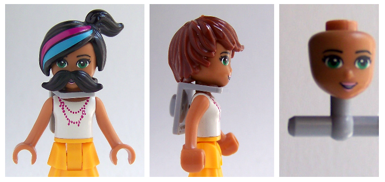 LEGO Friends figures customize with LEGO parts
