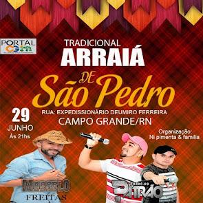 Marcelo Freitas e Forró do Patrão neste dia 29 de Junho no Tradicional Arraiá de São Pedro em Campo