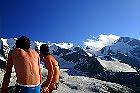 Bikini und Schnee