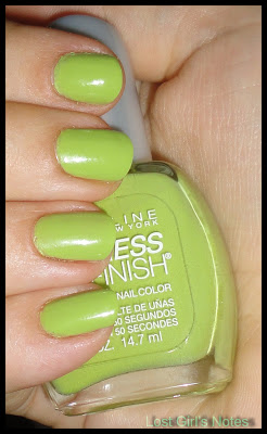 maybelline outloud lime swatch