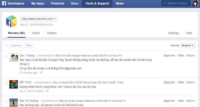 Cách thêm comment facebook và quản lý comment cho Blogspot Và Website