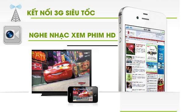 hkphone 4s retina pro 8, KẾT NỐI 3G SIÊU TỐC, NGHE NHẠC XEM PHIM HD
