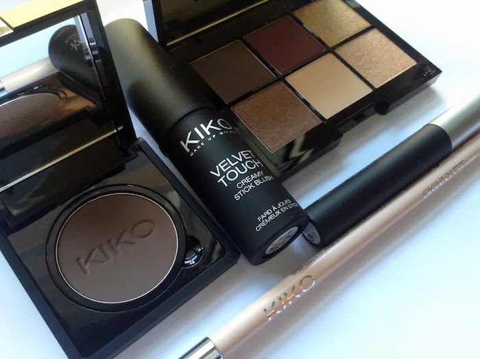 haul kiko boulevard rock, velvet touch blush, dark heroine, infinity eyeshadow