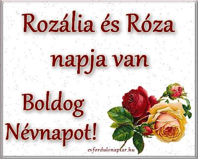 Rozália, Róza névnap
