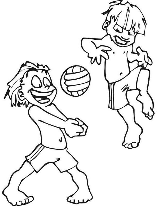 Encantador Colorear Voleibol De Playa Imágenes - Dibujos Para ...