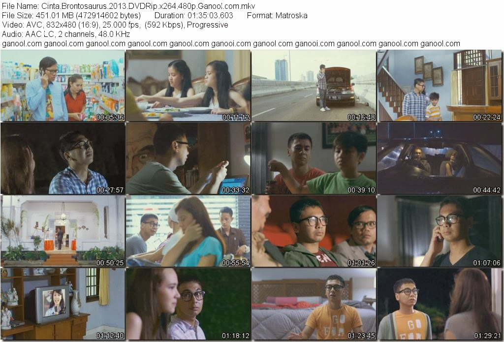 DOWNLOAD FILM CINTA BRONTOSAURUS (2013) DVDRip 450MB GRATIS