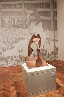 "Photo of small mock up of ""Sculpture for Chicago"" Similar to the African Mask shown earlier."