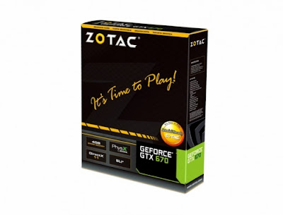 Zotac Nvidia Geforce GTX 670 graphics card box image