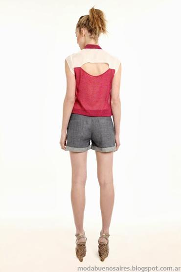 Sieben primavera verano 2014. Camisas de mujer sin mangas.