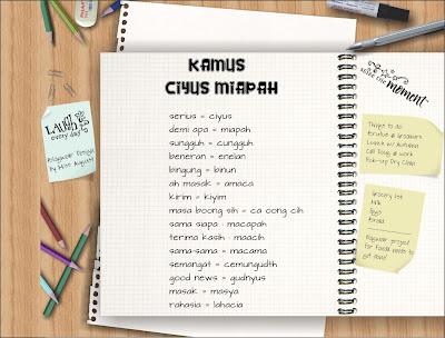 Kata kata Kamus Bahasa Gaul Alay 2014 Terbaru