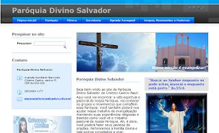 Site da Paróquia Divino Salvador de Cristino Castro