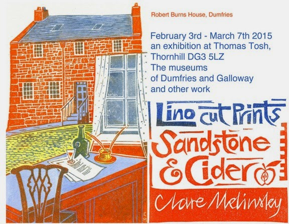 Clare's poster for her Sandstone & Cider exhibition