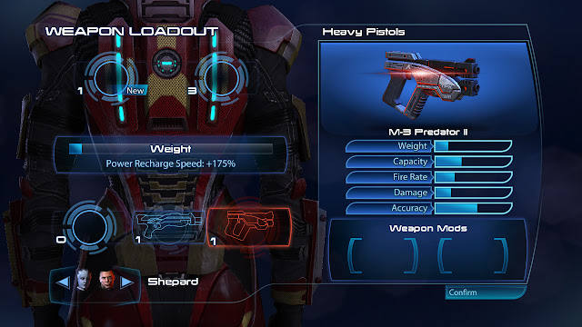 Mass Effect 3 weapon loadout