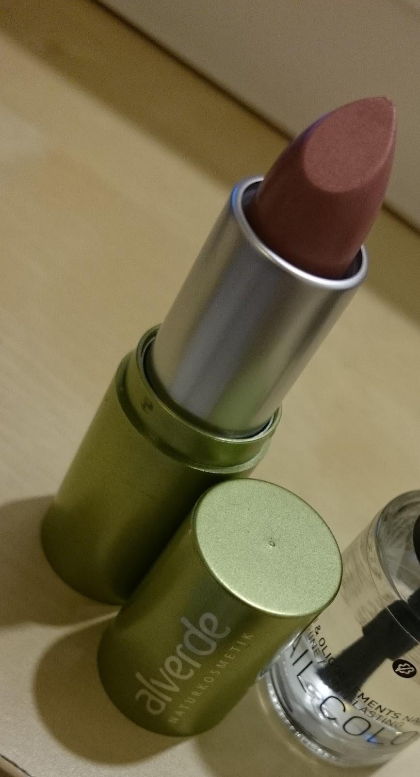 alverde Lippenstift 02 Shiny Terra