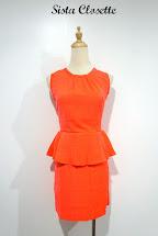 Sista Closette Exposed Zipper Peplum Dress